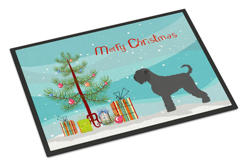 Buy this Black Russian Terrier Christmas Indoor or Outdoor Mat 24x36 BB8455JMAT