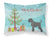 Black Russian Terrier Christmas Fabric Standard Pillowcase BB8455PILLOWCASE by Caroline's Treasures