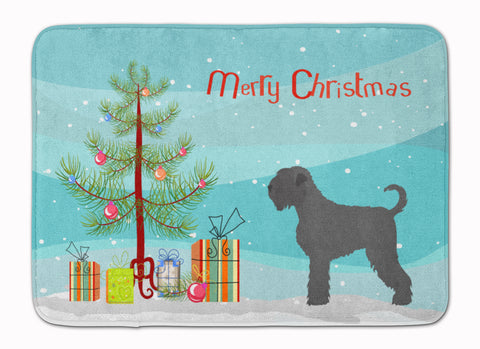 Buy this Black Russian Terrier Christmas Machine Washable Memory Foam Mat BB8455RUG