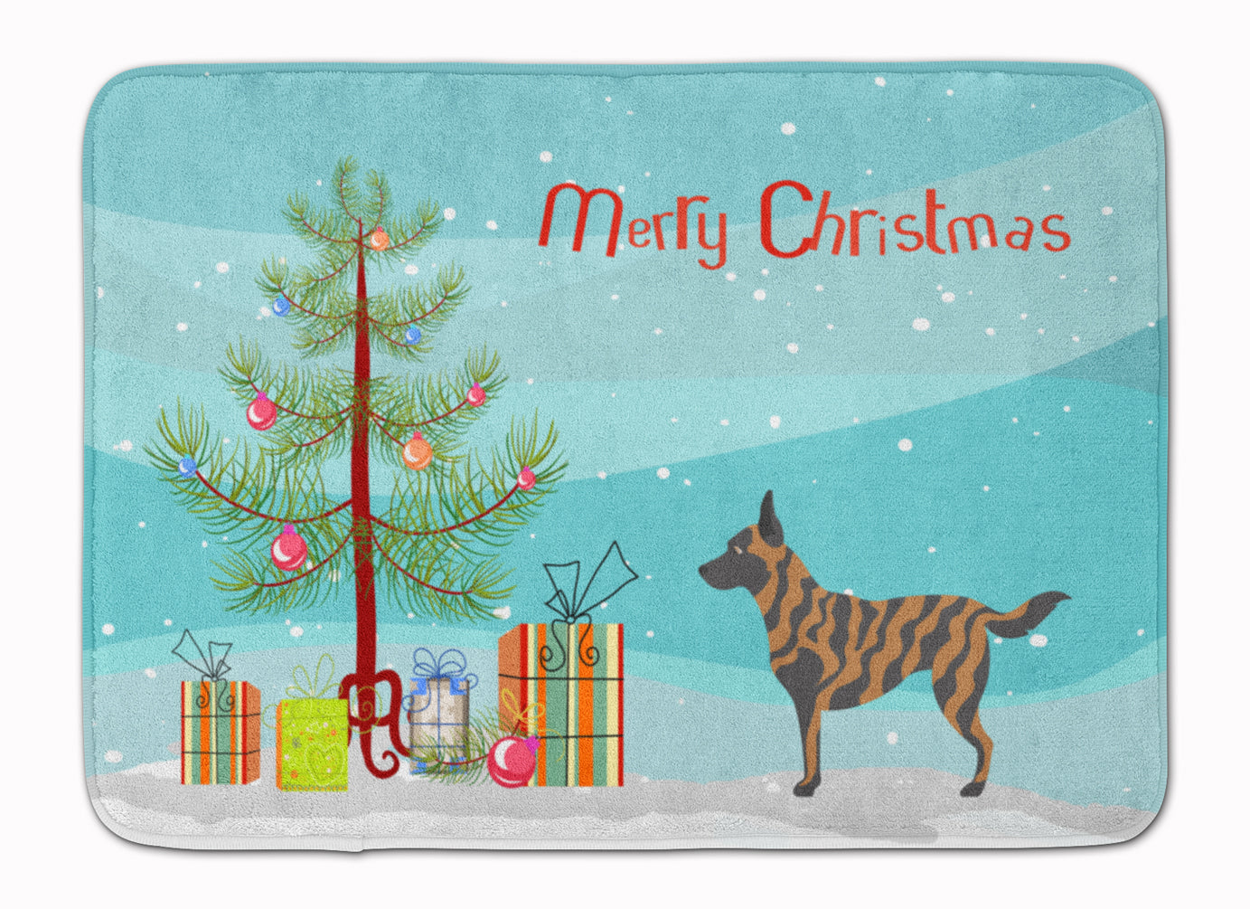 Dutch Shepherd Christmas Machine Washable Memory Foam Mat BB8462RUG by Caroline's Treasures