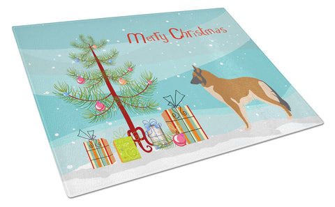 Buy this Belgian Tervuren Christmas Glass Cutting Board Large BB8465LCB
