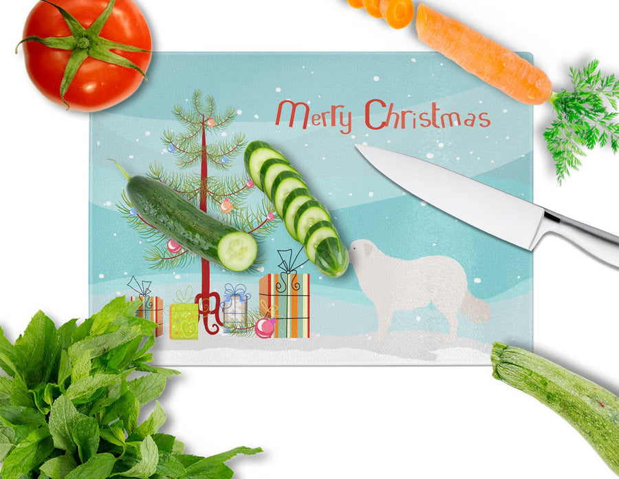 Buy this Kuvasz Christmas Glass Cutting Board Large BB8467LCB