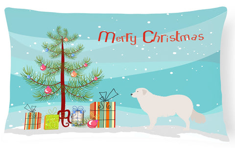 Buy this Kuvasz Christmas Canvas Fabric Decorative Pillow BB8467PW1216