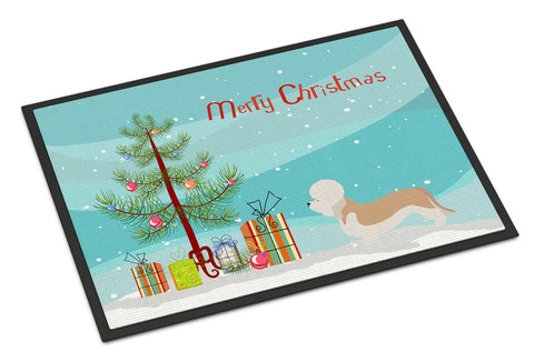 Buy this Dandie Dinmont Terrier Christmas Indoor or Outdoor Mat 24x36 BB8474JMAT