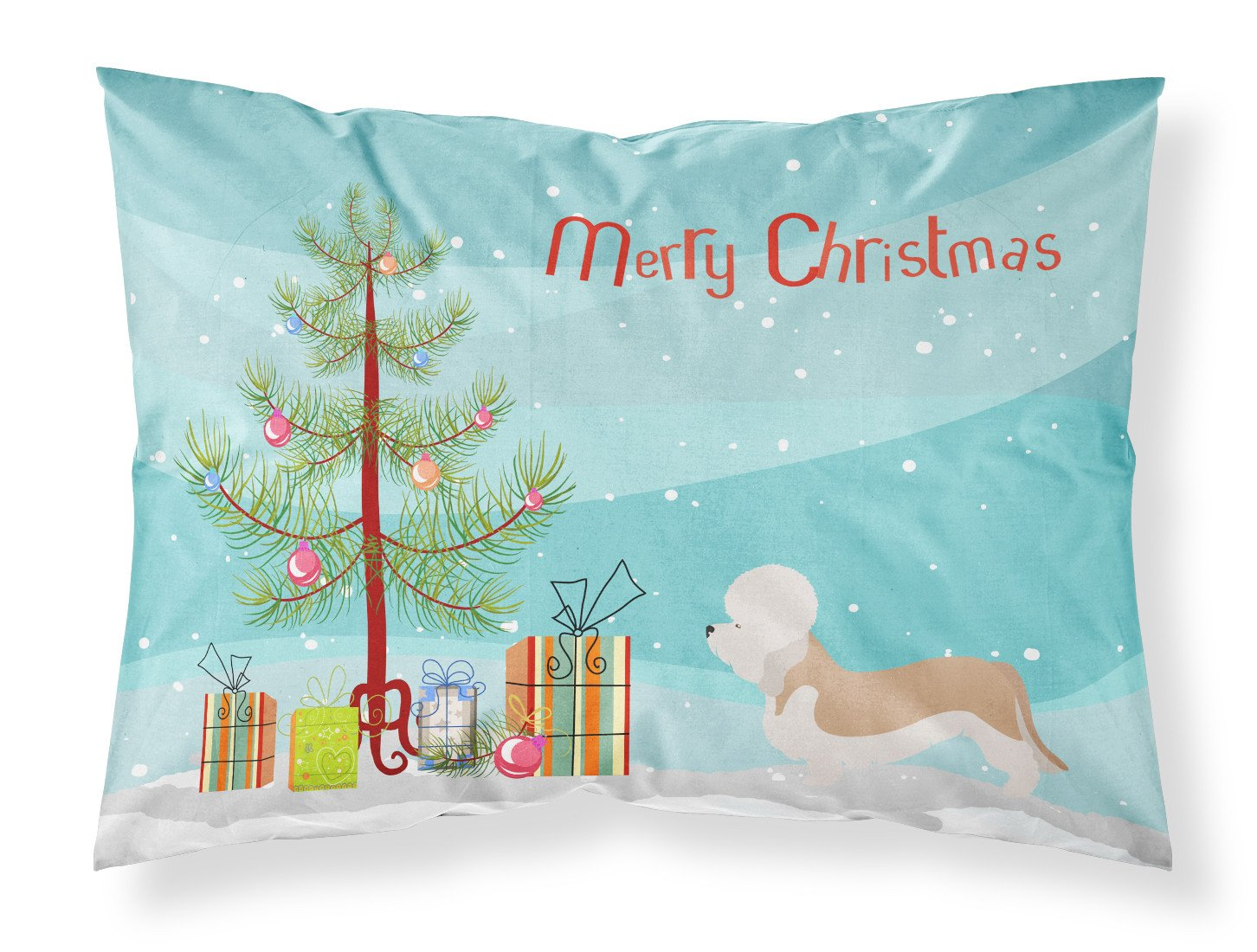 Buy this Dandie Dinmont Terrier Christmas Fabric Standard Pillowcase BB8474PILLOWCASE