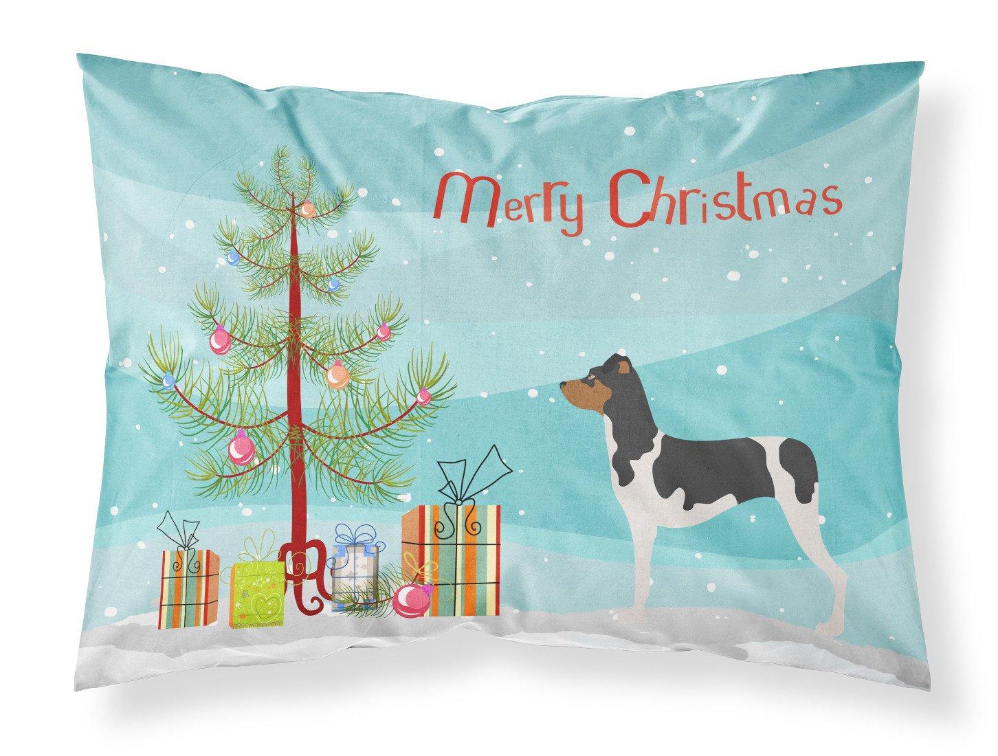 Brazilian Terrier Christmas Fabric Standard Pillowcase BB8477PILLOWCASE by Caroline's Treasures