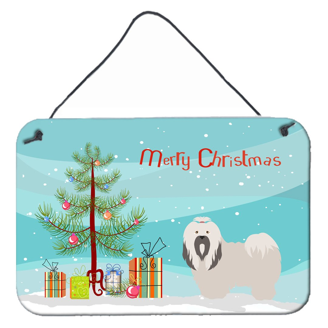 Buy this Lhasa Apso Christmas Wall or Door Hanging Prints BB8481DS812