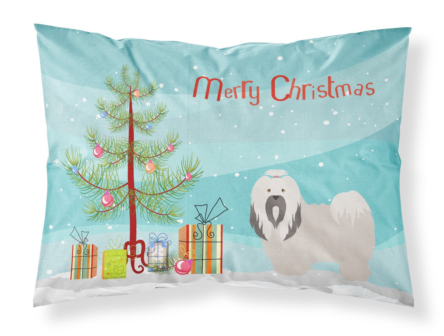 Buy this Lhasa Apso Christmas Fabric Standard Pillowcase BB8481PILLOWCASE