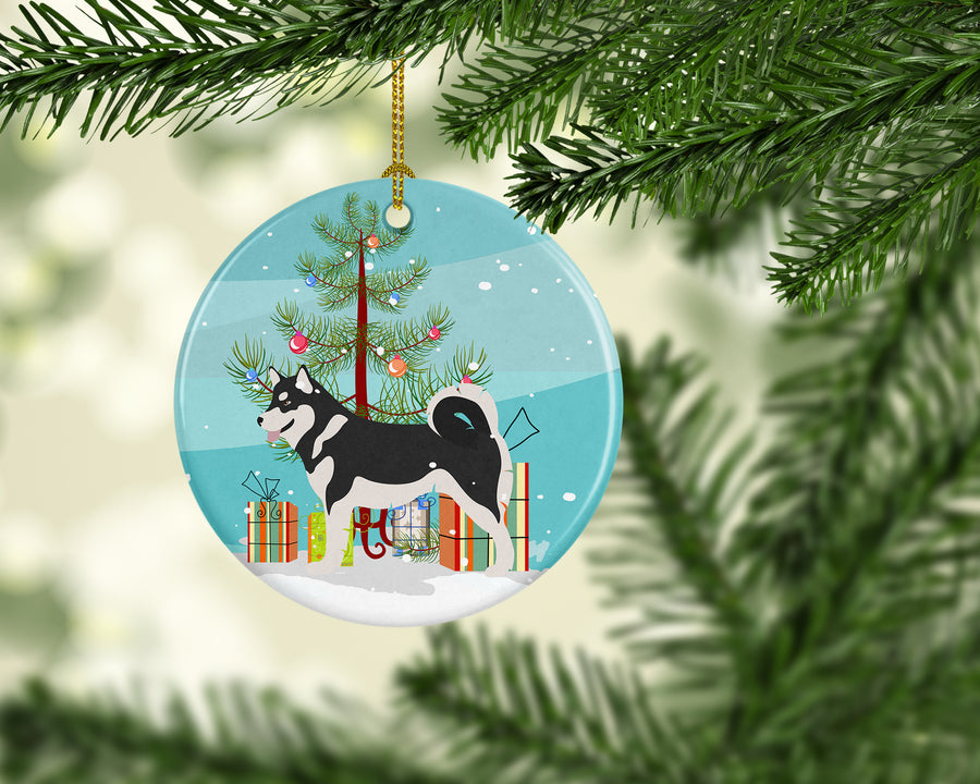 Buy this Alaskan Malamute Christmas Ceramic Ornament BB8486CO1