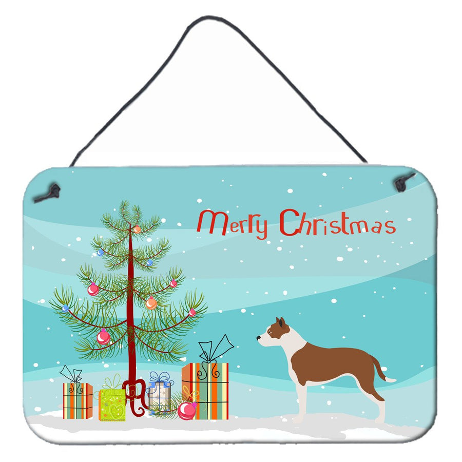 Buy this Pit Bull Terrier Christmas Wall or Door Hanging Prints BB8487DS812
