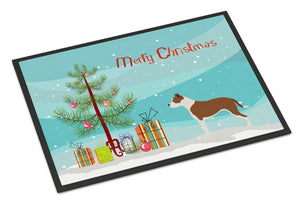 Buy this Pit Bull Terrier Christmas Indoor or Outdoor Mat 24x36 BB8487JMAT
