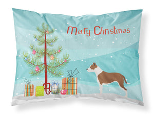 Buy this Pit Bull Terrier Christmas Fabric Standard Pillowcase BB8487PILLOWCASE