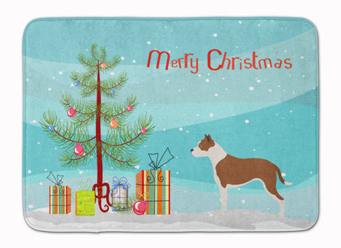 Buy this Pit Bull Terrier Christmas Machine Washable Memory Foam Mat BB8487RUG