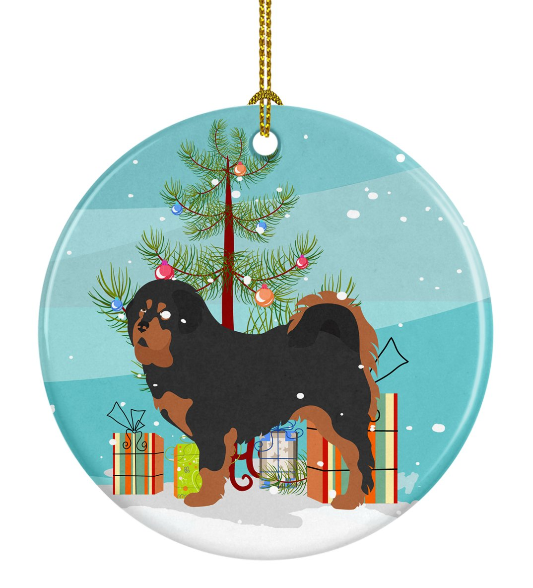Tibetan Mastiff Christmas Ceramic Ornament BB8488CO1 by Caroline's Treasures