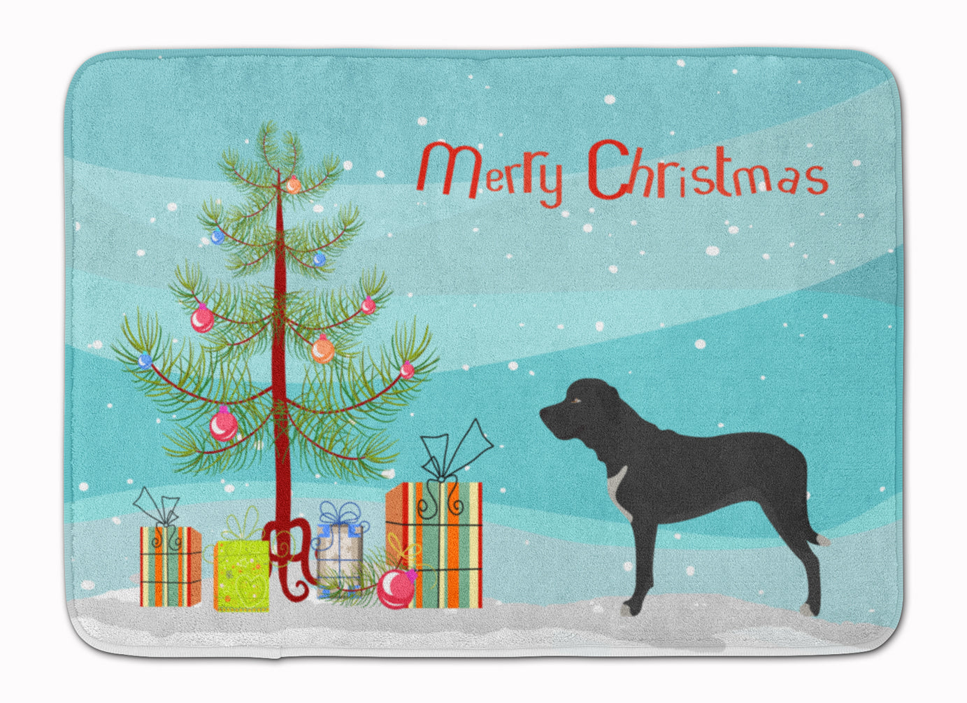 Broholmer Danish Mastiff Christmas Machine Washable Memory Foam Mat BB8490RUG by Caroline's Treasures