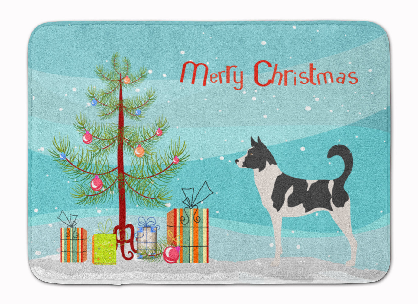 Canaan Dog Christmas Machine Washable Memory Foam Mat BB8491RUG by Caroline's Treasures