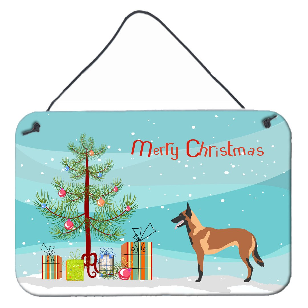 Buy this Malinois Belgian Shepherd  Christmas Wall or Door Hanging Prints BB8494DS812
