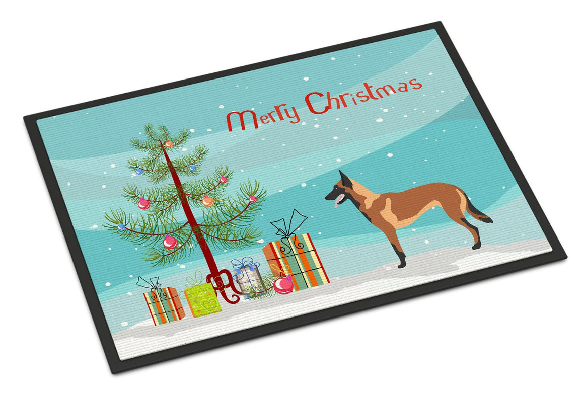 Buy this Malinois Belgian Shepherd  Christmas Indoor or Outdoor Mat 24x36 BB8494JMAT