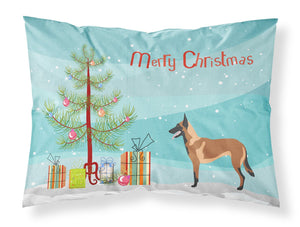 Buy this Malinois Belgian Shepherd  Christmas Fabric Standard Pillowcase BB8494PILLOWCASE