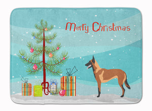 Buy this Malinois Belgian Shepherd  Christmas Machine Washable Memory Foam Mat BB8494RUG