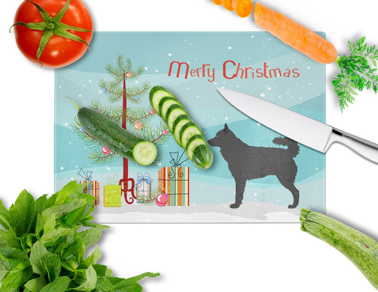 Buy this Mudi Christmas Glass Cutting Board Large BB8498LCB
