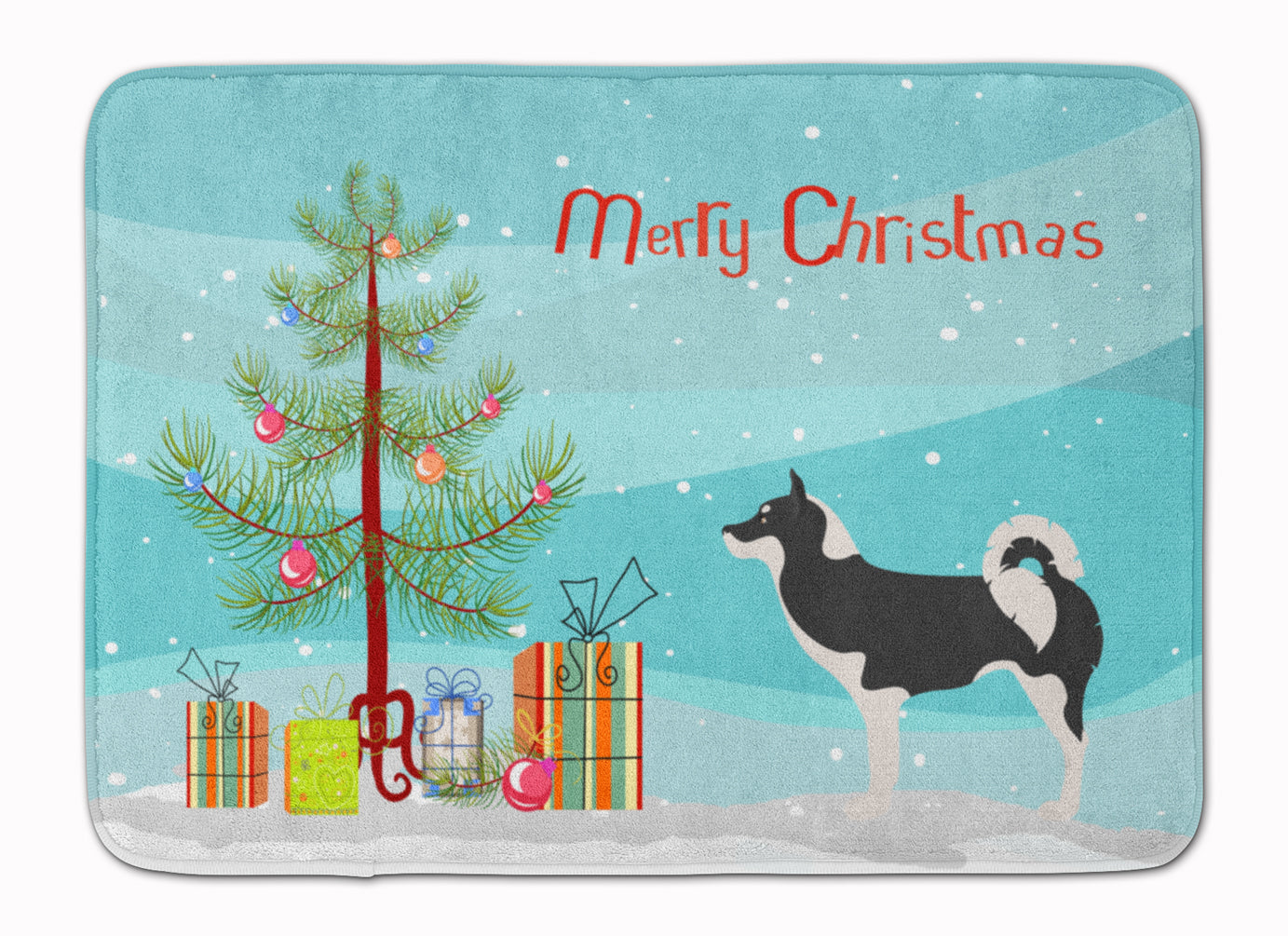 Greenland Dog Christmas Machine Washable Memory Foam Mat BB8500RUG by Caroline's Treasures