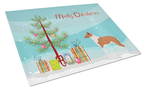 Buy this Smooth Collie Christmas Glass Cutting Board Large BB8504LCB