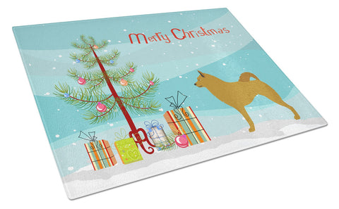 Buy this Finnish Spitz Christmas Glass Cutting Board Large BB8505LCB