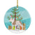 American Bulldog Christmas Ceramic Ornament BB8510CO1 by Caroline's Treasures