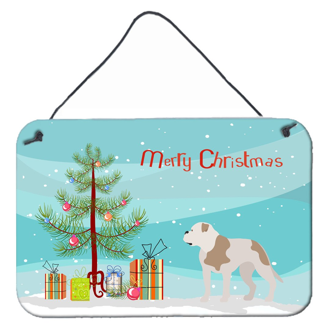 American Bulldog Christmas Wall or Door Hanging Prints BB8510DS812 by Caroline's Treasures