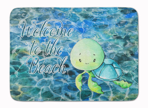 Buy this Sea Turtle Welcome Machine Washable Memory Foam Mat BB8520RUG