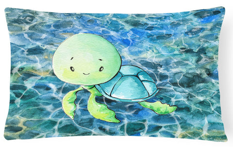 Buy this Sea Turtle Canvas Fabric Decorative Pillow BB8525PW1216