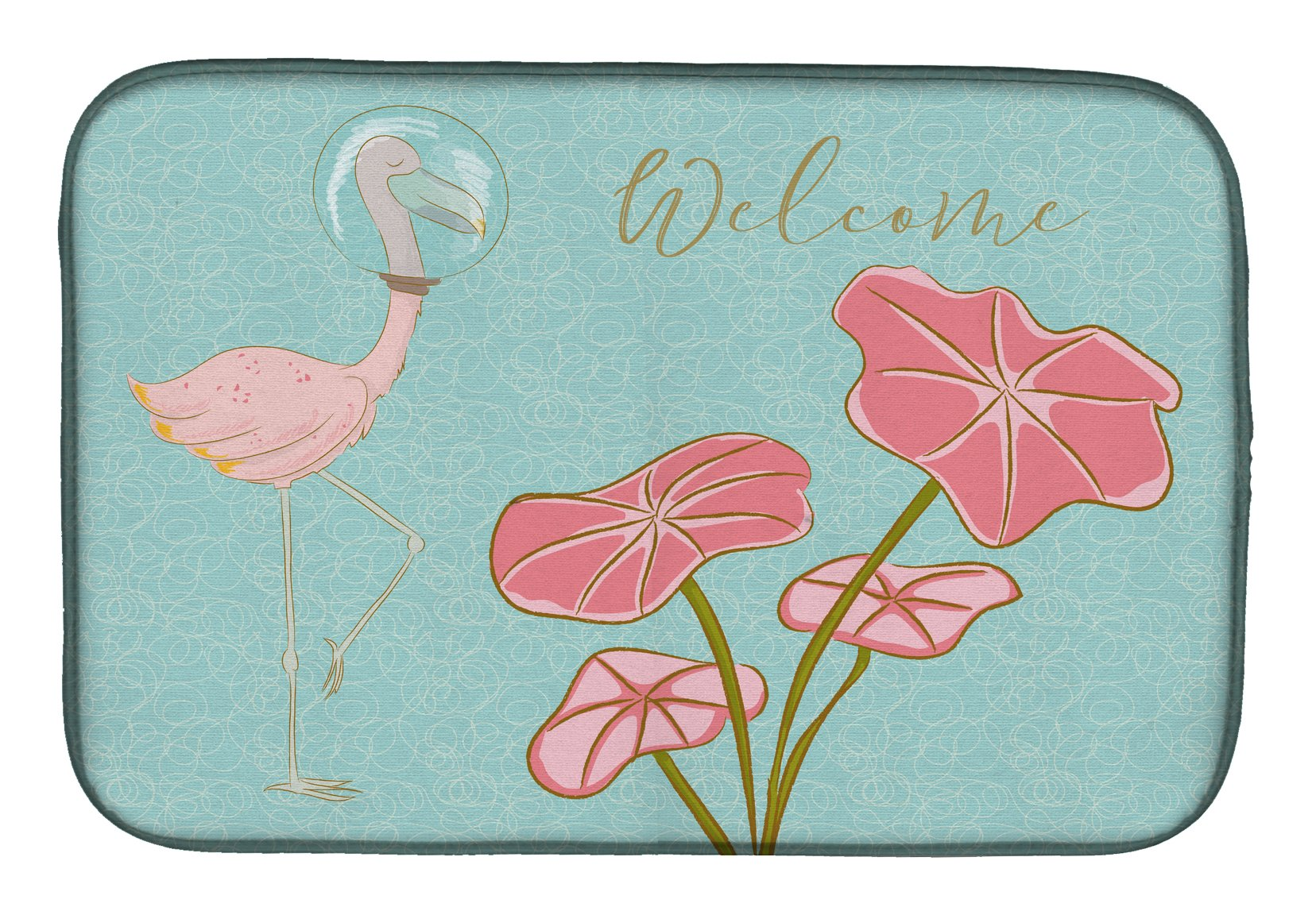 Buy this Flamingo Welcome Dish Drying Mat BB8532DDM