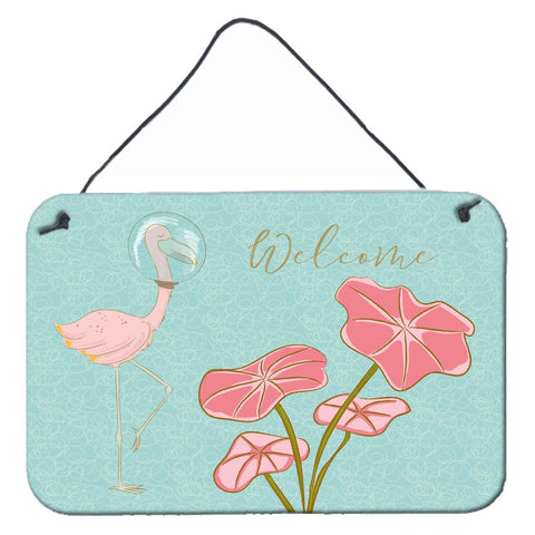 Buy this Flamingo Welcome Wall or Door Hanging Prints BB8532DS812