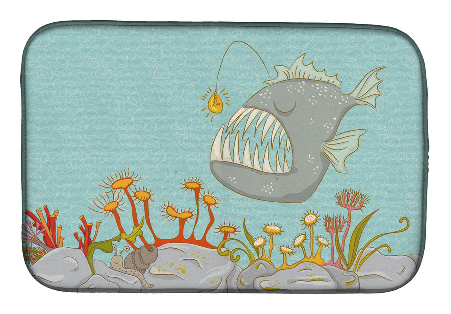 Buy this Frog Fish Scene Dish Drying Mat BB8536DDM