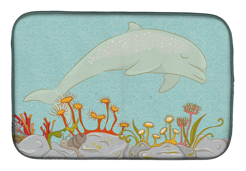 Buy this Dolphin Underwater Scene Dish Drying Mat BB8537DDM