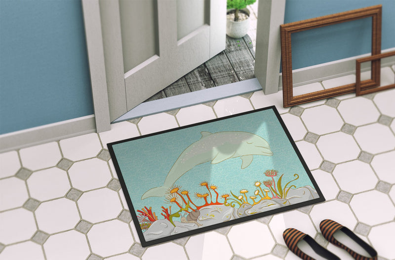 Buy this Dolphin Underwater Scene Indoor or Outdoor Mat 24x36 BB8537JMAT