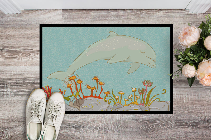 Buy this Dolphin Underwater Scene Indoor or Outdoor Mat 18x27 BB8537MAT
