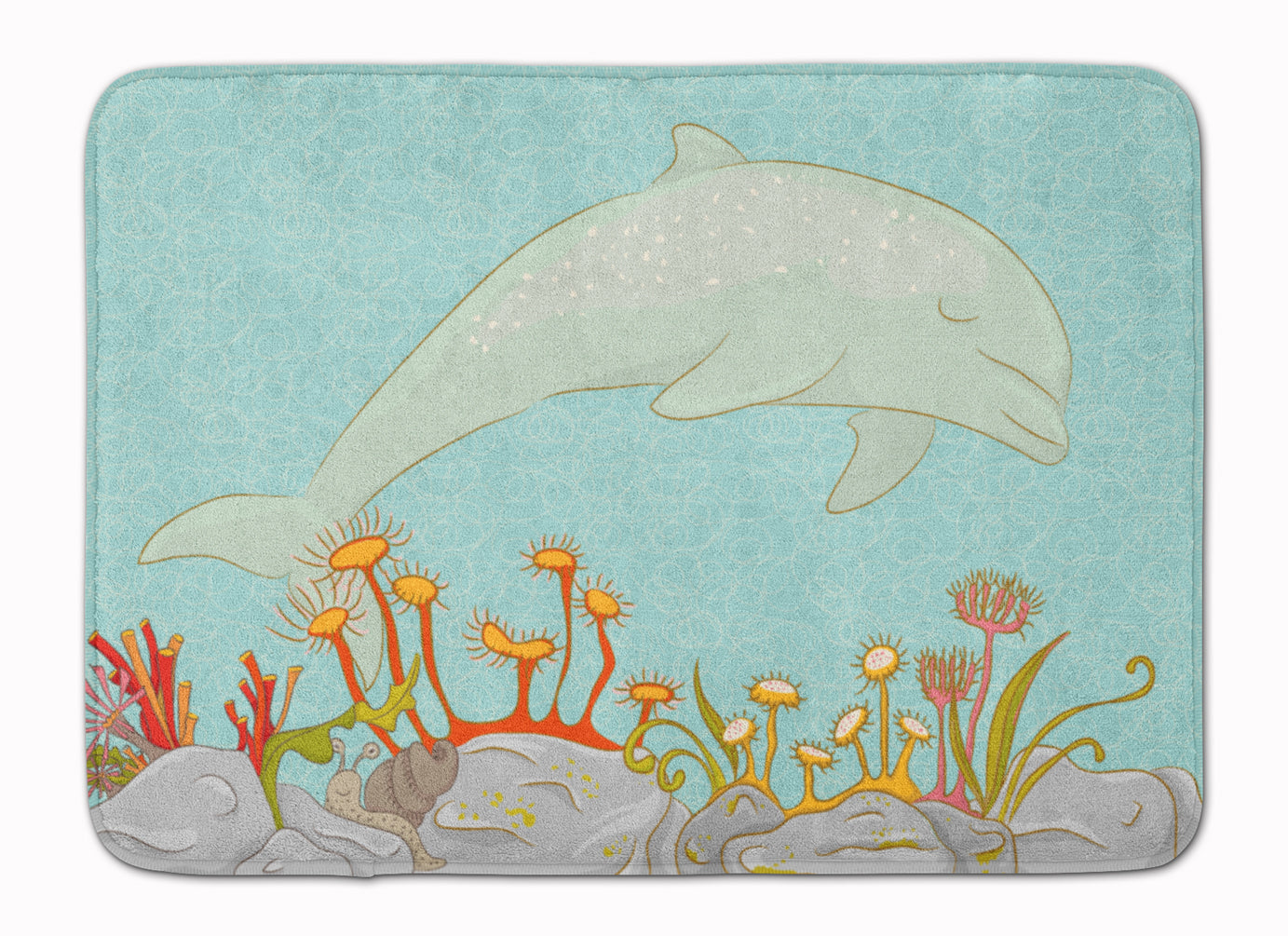 Buy this Dolphin Underwater Scene Machine Washable Memory Foam Mat BB8537RUG