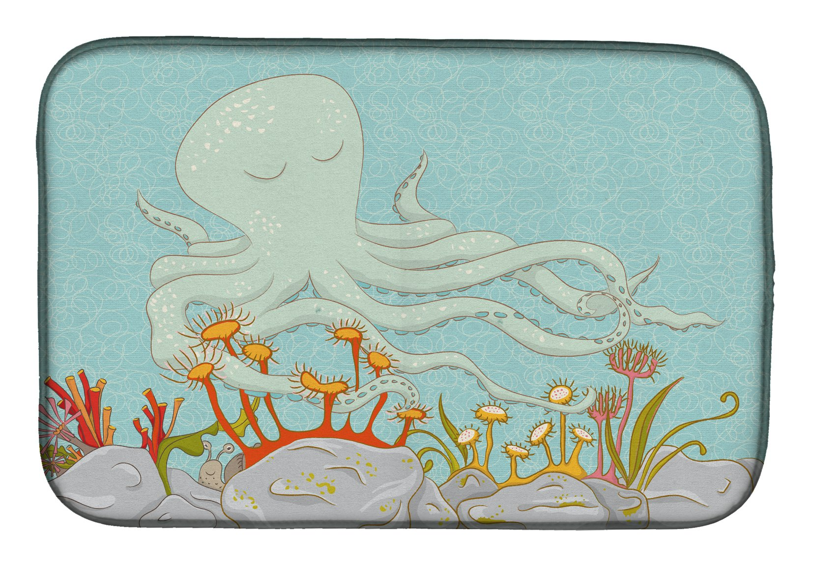 Buy this Octopus Underwater Scene Dish Drying Mat BB8538DDM