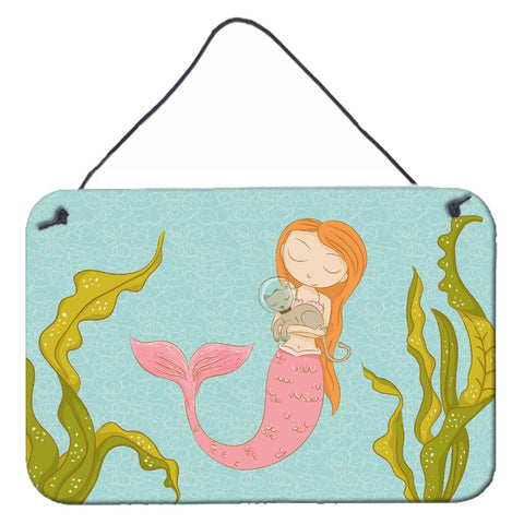 Buy this Mermaid and Cat Underwater Wall or Door Hanging Prints BB8540DS812