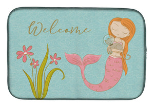 Buy this Mermaid with Cat Welcome Dish Drying Mat BB8548DDM