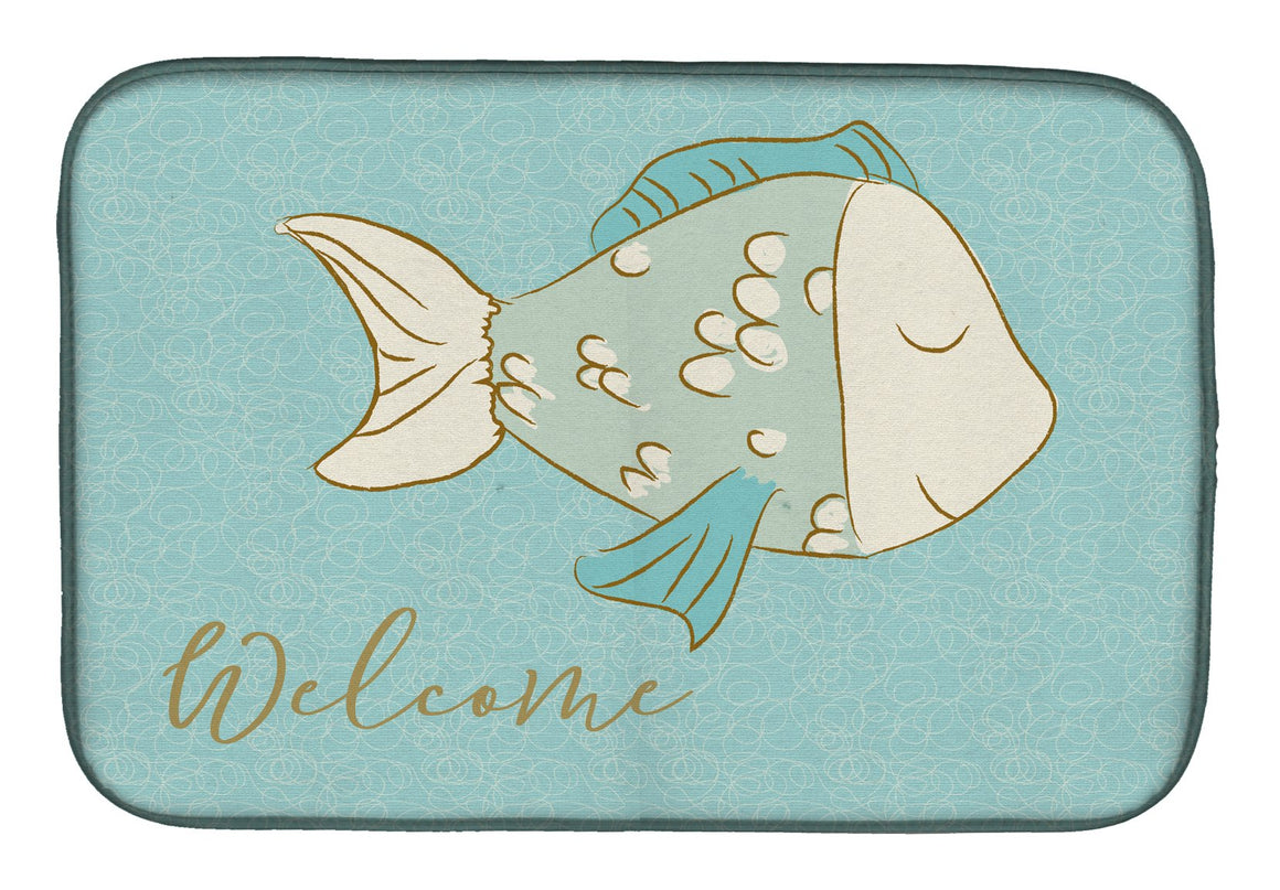 Buy this Blue Fish Welcome Dish Drying Mat BB8549DDM