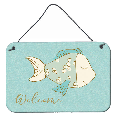 Buy this Blue Fish Welcome Wall or Door Hanging Prints BB8549DS812