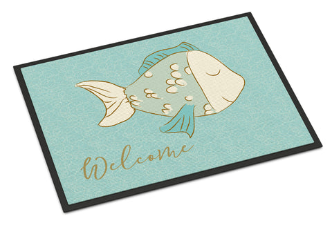 Buy this Blue Fish Welcome Indoor or Outdoor Mat 18x27 BB8549MAT