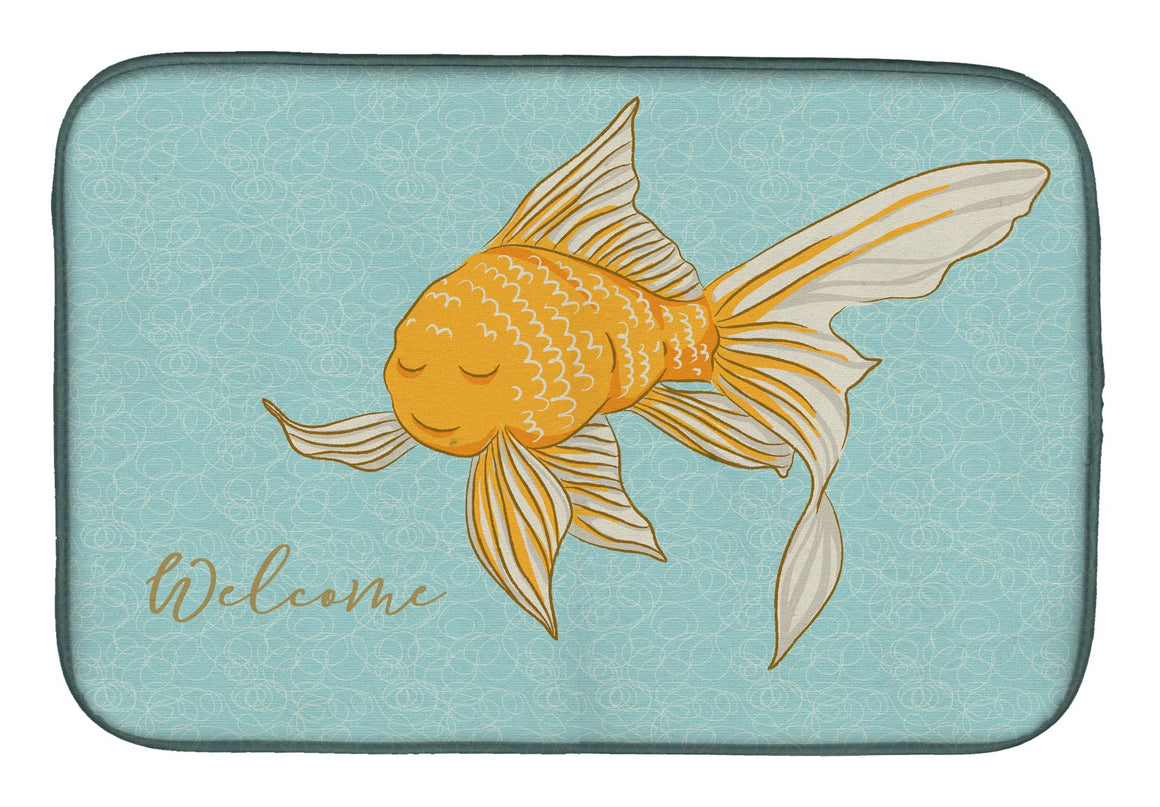 Buy this Gold Fish Welcome Dish Drying Mat BB8551DDM