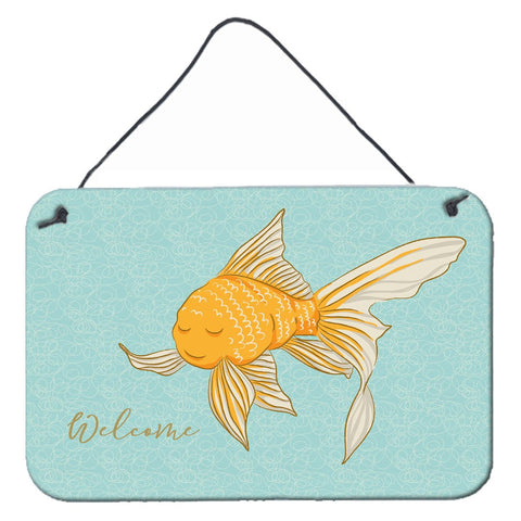 Buy this Gold Fish Welcome Wall or Door Hanging Prints BB8551DS812