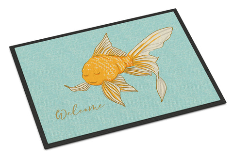Buy this Gold Fish Welcome Indoor or Outdoor Mat 18x27 BB8551MAT