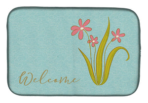 Buy this Flowers Welcome Dish Drying Mat BB8552DDM