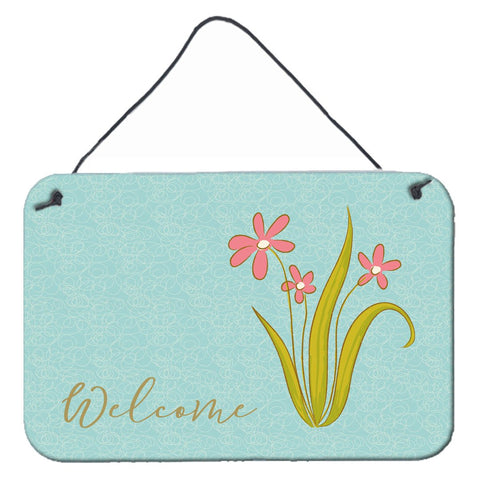 Buy this Flowers Welcome Wall or Door Hanging Prints BB8552DS812